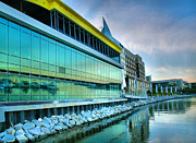 Commercial Real Estate Prints - Harborfront Buildings II Print by Steven Ainsworth