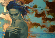 Nudes Painting Originals - Harboring Dreams by Dorina  Costras