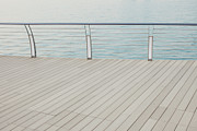 Railing Prints - Harbour Boardwalk Print by GenkiGenki