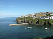 Cornwall Prints - Harbour In Port Isaac, Cornwall Print by Thepurpledoor