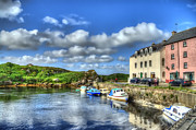 Landscape Picture Framed Prints - Harbour Life Framed Print by Kim Shatwell-Irishphotographer
