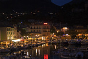 Rhone Alpes Framed Prints - Harbour lights - Cassis Framed Print by Rod Jones