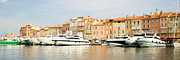 St.tropez Photo Framed Prints - Harbour, St. Tropez, Cote Dazur, France Framed Print by John Harper