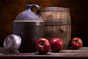 Fresh Fruit Posters - Hard Cider Still Life Poster by Tom Mc Nemar