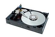 Disc Photo Prints - Hard Drive BackUp Print by Olivier Le Queinec