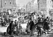 Liquor Store Prints - Hard Frost On The Streets Of London Print by Everett