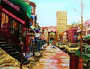 Montreal Streets Prints - Hard Rock Cafe  Print by Carole Spandau