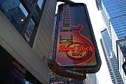 Street Scene Digital Art Originals - Hard Rock Cafe N Y C by Rob Hans