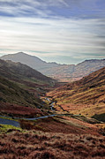 District Framed Prints - Hardknott Pass, Langdale Valley, Lake District Framed Print by Nina K Claridge