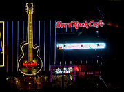 The Strip Framed Prints - HardRock Cafe - Las Vegas Framed Print by Brendan Reals