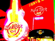 Hard Rock Cafe Framed Prints - Hardrock Cafe Tokyo Framed Print by Funkpix Photo Hunter