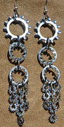 Large Earrings Jewelry - Hardware Store Parts Earrings by Megan Brandl