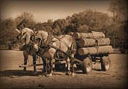 Hardworking Horses Print by Kristin Elmquist