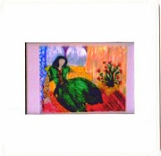 Harem Framed Prints - Harem girl Framed Print by Duygu Kivanc