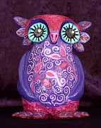 Hand Made Sculptures - Hariette the Owl Original Sculpture  by Lisa Frances Judd