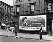Racism Prints - Harlem: Billboard, 1948 Print by Granger
