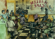 Mills Mixed Media - Harlem Cafe by Janie McGee