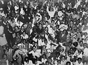 Boxer Photo Framed Prints - Harlem Crowd Celebrating African Framed Print by Everett