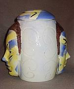 Featured Ceramics - Harlequin Twin Jar by Abbe Gore