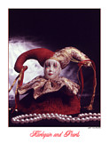 Stylized Photography Posters - Harlequinn and Pearls Poster by Jerry Taliaferro