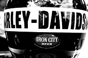 Iron City Posters - Harley and Beer Poster by Kenneth Mucke