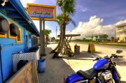 Flagler Prints - Harley at High Tides Print by Andrew Armstrong  -  Orange Room Images