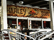 Beachfront Posters - Harley Beach Bar Poster by Jasna Buncic