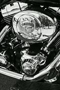 Harley Davidson Bike - Chrome Parts 02 Print by Aimelle