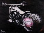 Harley Davidson Paintings - Harley Davidson Custom  by Ruben Barbosa