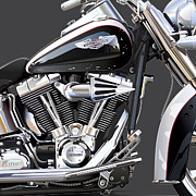 Hd Framed Prints - Harley Davidson Detail Framed Print by Alain Jamar