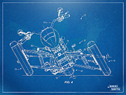 Reverse Prints - Harley-Davidson Leaning Trike Patent Artwork Figure 4 Print by Nikki Marie Smith