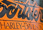 Man Machine Framed Prints - Harley Davidson Logo Framed Print by Stylianos Kleanthous