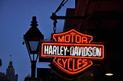 Big Easy Framed Prints - Harley Davidson New Orleans Framed Print by Bill Cannon