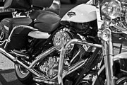 Hd Framed Prints - Harley Davidson Road King Framed Print by Georgia Fowler
