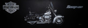 Harley Davidson Paintings - Harley Davidson Snap-On by Richard Le Page
