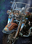 David Kyte Framed Prints - Harley Davidson Ultra Classic Framed Print by David Kyte