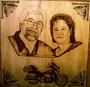 Couple Pyrography - Harley Dreaming by Mark Padgett