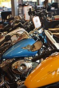 Harley Davidson Road King Motorcycles Photos - Harley Flight Line by Rene Triay