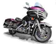 Harley Davidson Paintings - Harley Rebuild by Ferrel Cordle