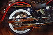 Victory Framed Prints - Harley Red Framed Print by Joseph Ventura