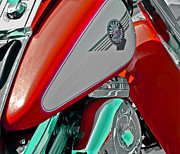Harley Usa Red Print by Bill Owen