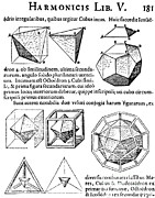 Dodecahedron Framed Prints - Harmonices Mundi, 1619 Framed Print by Science Source