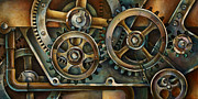 Steam Punk Painting Posters - Harmony 2 Poster by Michael Lang