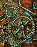 Steam Punk Painting Posters - Harmony 3 Poster by Michael Lang