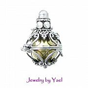 Ball Jewelry - Harmony ball chiming pendant locket DB19 by Jewelry by Yael