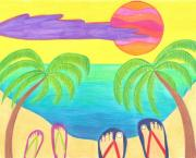 Sun Drawings - Harmony Cove by Geree McDermott