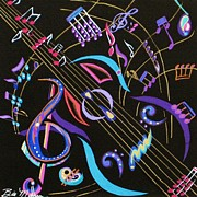 Bill Manson Paintings - Harmony in Guitar by Bill Manson