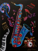 Saxophone Mixed Media - Harmony in Jazz by Bill Manson