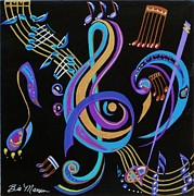 Original  By Artist Paintings - Harmony in Motion by Bill Manson