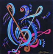 Saxophone Mixed Media - Harmony IV by Bill Manson